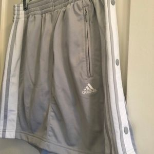 Adidas Grey and White Jersey Tennis Skirt